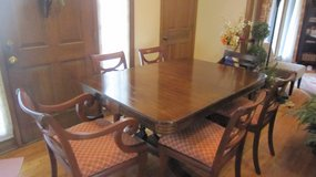 Antique Dining Table and Six Chairs in Joliet, Illinois