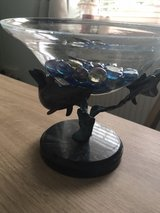 Beautiful Dolphin Stand with a clear glass bowl in Lakenheath, UK