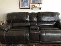 Leather power sofa and chair. in Joliet, Illinois