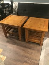 2 Heavy Solid Wood Mission Style End Tables in Aurora, Illinois