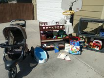 Changing Table, Stroller, cloth diapers, basketball hoop in Fort Carson, Colorado