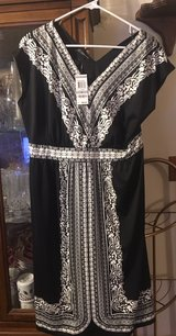 INC by Macy's Blush Garden Ancient Scrolls Black and White Dress in Camp Lejeune, North Carolina
