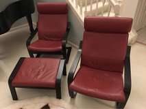Genuine leather chairs with leg rest in St. Charles, Illinois