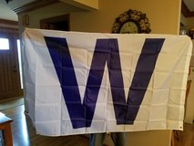 W Chicago cubs flag in Aurora, Illinois