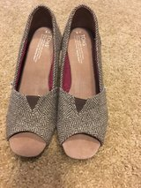 TOMS wedges in Fort Polk, Louisiana