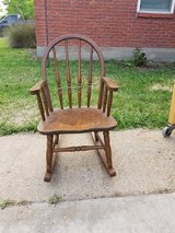 Antique Childrens Rocking Chair (Oak Forest) in Bellaire, Texas