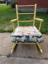 Antique Childrens Yellow Rocking Chair (Oak Forest) in Bellaire, Texas
