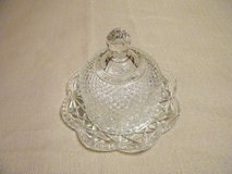 Vintage Avon Covered Butter Dish Patterned Pressed glass in Fort Leonard Wood, Missouri