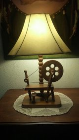 vintage wool spinning wheel lamp in Hemet, California
