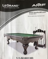 LeGrand Billiard table in Fort Lewis, Washington