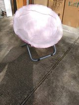 Pink circle chair in Norfolk, Virginia