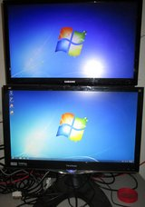 Dual Display 1080p Monitors on Ergotron stand in Glendale Heights, Illinois