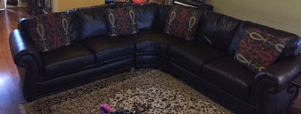 Broyhill Leather sectional couch in Warner Robins, Georgia