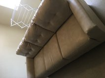 Faux leather couch in Fort Irwin, California
