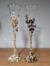CUSTOM WEDDING CHAMPAGNE FLUTES in Chicago, Illinois