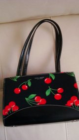 New Kate Spade Black & Red Flowered design Purse in El Paso, Texas
