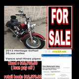 2012 Harley Heritage for sale in Temecula, California