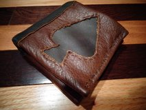 Artisan Made Leather Wallet 2 Tone Spade Design in Orland Park, Illinois