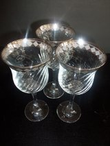 BEAUTIFUL NAME BRAND CRISTAL MODE WINE GLASSES in New Lenox, Illinois