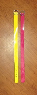 Girls bright patent belts, sz M, Limited Too (Justice) in Clarksville, Tennessee
