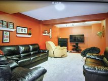Leather Couch and Loveseat in Yorkville, Illinois