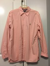 Men's long sleeve pink button down Polo in Byron, Georgia