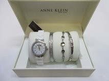 Anne Klein Ladies 4-Piece Bracelet and Bangle Watch Set Silver Tone. in New Lenox, Illinois