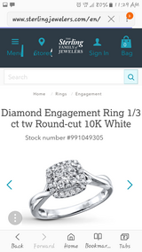 White gold and diamond enganment ring in Conroe, Texas