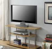 3 Tier Wide TV Stand (Light Oak) - NEW! in Chicago, Illinois