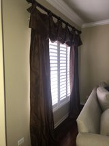 curtains custom made with 2 panels, rod & hardware in Plainfield, Illinois