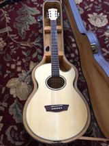 New Washburn Electric acustic guitar with case in Camp Lejeune, North Carolina