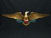 Vintage Cast Aluminum Golden Eagle Red White & Blue / Shield by Sexton in Aurora, Illinois