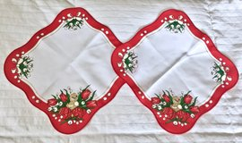 NEW 2 Spring/ Easter Table Cloths. 11in x 11in. in Okinawa, Japan