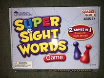 Sight Word Game in Naperville, Illinois