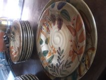 Dish Set - Brown Flower Print  x15 Pieces in Camp Pendleton, California