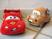stuffed Lightning McQueen and stuffed Mater in Stuttgart, GE