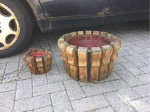 Wood Planters in Ramstein, Germany