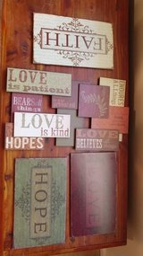 Set of 4 Faith hope and love in Hinesville, Georgia