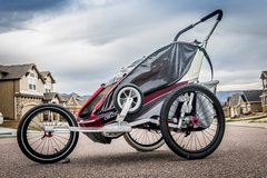 Thule Chariot Double Stroller (Jog, Walk, Bike, Ski Accessories included) in Colorado Springs, Colorado