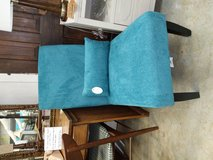 Teal chair in Fort Campbell, Kentucky
