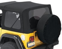 Brand New Jeep Soft Top L & R Quarter Windows and Rear Window (all tinted) in Stuttgart, GE