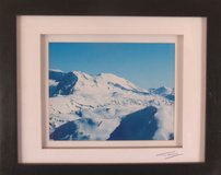 SNOW COVERED MOUNTAINS DOUBLE MATTED ORIGINAL PHOTO PRINT SIGNED in Tinley Park, Illinois