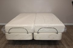 Split Queen Size Tempurepedic Mattress and Electric Adjustable Bases in Kingwood, Texas