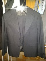 Boys Size 12 5pc. Grey Suit with Tie, Vest, Shirt, Pants, & Jacket in Ramstein, Germany