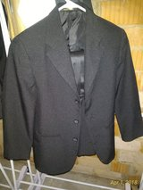 Boys Sz 12 3pc. Slim Black Coat, Pants and Cumberband in Ramstein, Germany