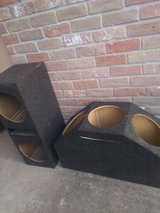 Speaker boxes in The Woodlands, Texas