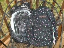 Back packs  1 left in Fort Riley, Kansas