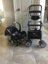 infant car seat, base and stroller caddy in Kingwood, Texas