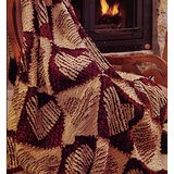 RAGTIME HEARTS -  Chenille Throw Quilt Pattern From a Magazine in Naperville, Illinois