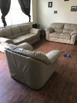 Tan couch set NEED GONE in Fort Sam Houston, Texas